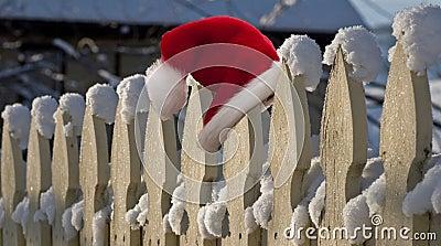 Santa lost his hat