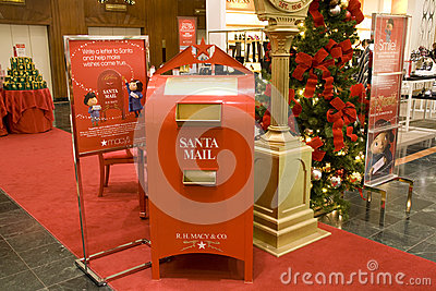 Santa mail box mall Editorial Stock Image