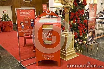 Santa mail box mall Editorial Stock Image