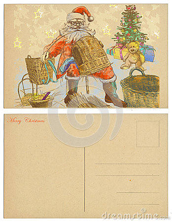 Santa making baskets
