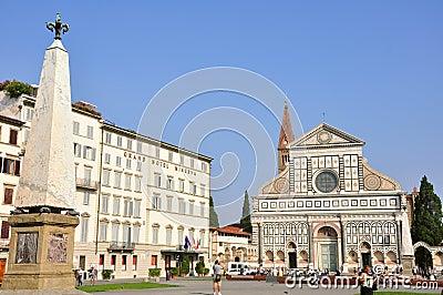 Santa Maria Novella church, Florence Editorial Stock Image
