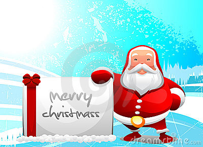 santa with message