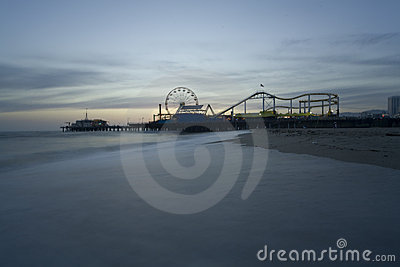 Santa Monica Beach with Pier