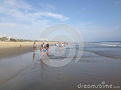 santa monica beach Editorial Photo