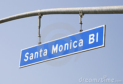 Santa Monica Blvd Street Sign