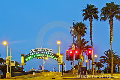 Santa Monica Pier Editorial Photography