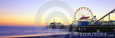 Santa Monica Pier Editorial Photo