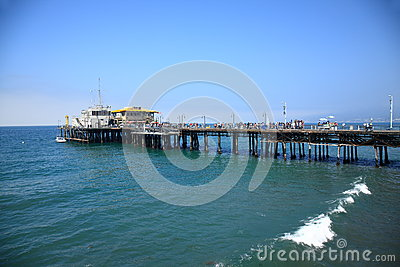 Santa Monica Pier Editorial Stock Image