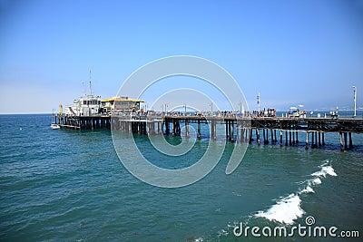 Santa Monica Pier Editorial Stock Image
