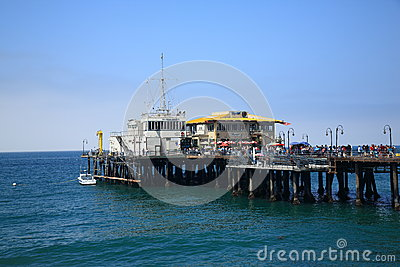 Santa Monica Pier Editorial Stock Photo