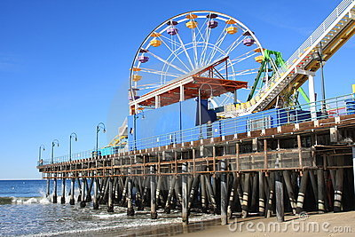 Santa Monica Pier and Beach in Southern California