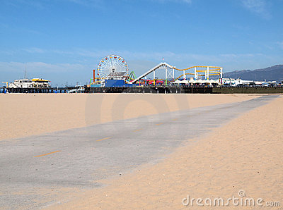 Santa Monica Pier Bike Path