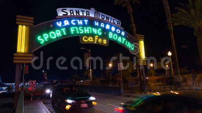 Santa Monica Pier, California time lapse stock video