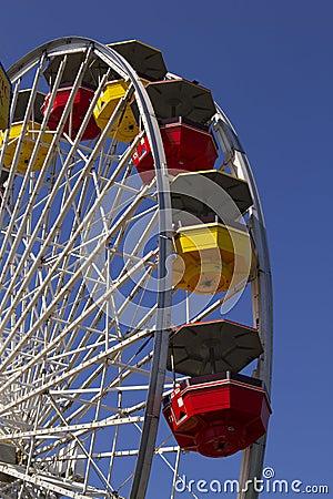 Santa Monica Pier Carnival Amusement Thrill Ride