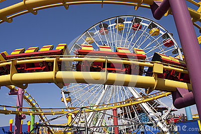 Santa Monica Pier Carnival Amusement Thrill Rides