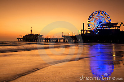 Santa Monica Pier reflections