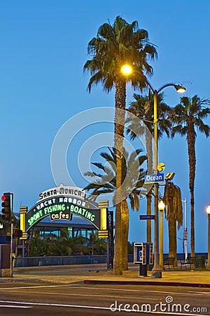 Santa Monica Pier in Santa Monica, California Editorial Stock Photo