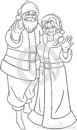 mrs claus coloring pages - Santa And Mrs Claus Coloring Pages