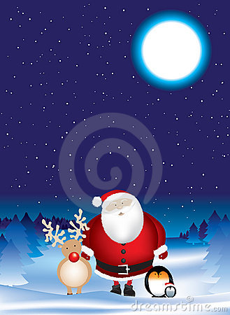 Santa night scene
