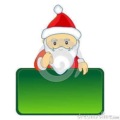 Santa with notice