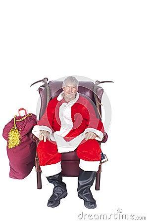 Santa off duty