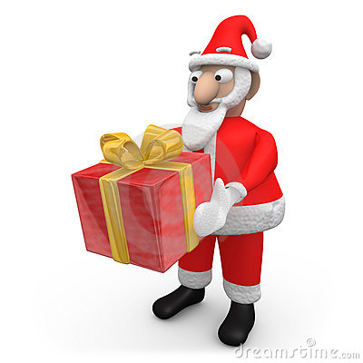 Santa Offering A Gift