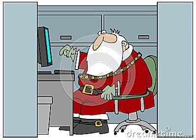Santa In The Office