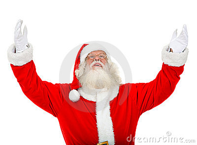 Santa with open arms