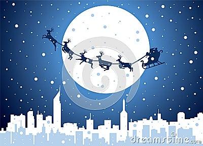 Santa over city