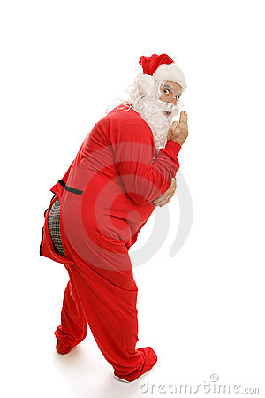 Santa in Pajamas - Ooops!