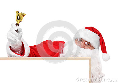 Santa and part of hollow bulletin board