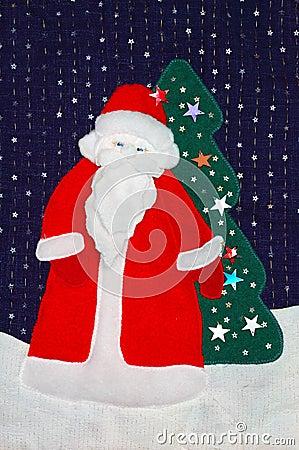 Santa patchwork