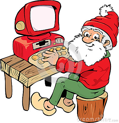 Santa with PC