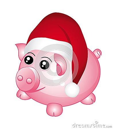 Santa piggy bank.