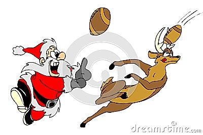 Santa play handball