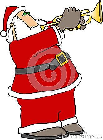 Santa Playing Trumpet