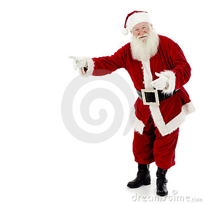 Free Santa Pointing Stock Photos - 2521703