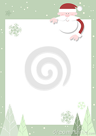 Santa Pointing Down to Poster/Copy Area