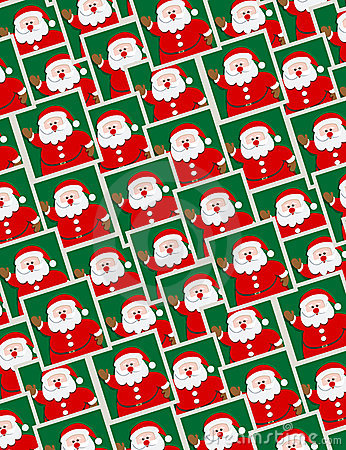 Santa portraits - seamless pattern