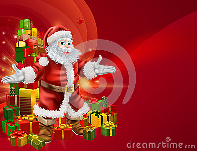 Santa and presents background