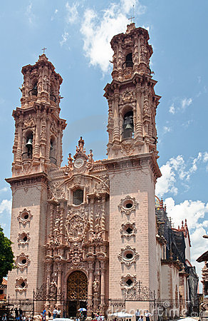 Santa Prisca Church in Taxco Mexico Editorial Photo