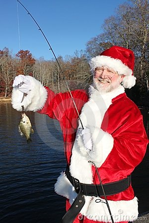 Free Santa Proud Of His Big Catch Stock Images - 22082794