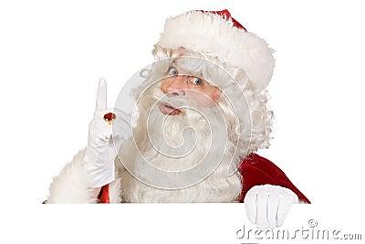 Santa putting finger up