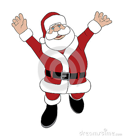 Santa que salta para la alegría