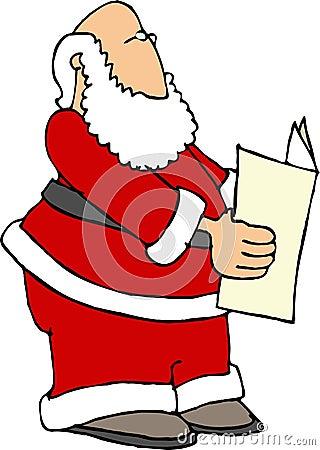 Santa Reading the Paper
