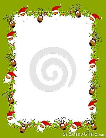 Santa Reindeer Background 2