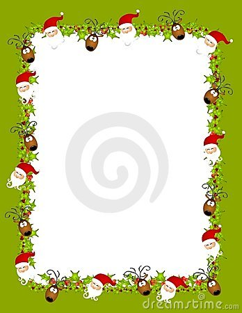 Santa Reindeer Background