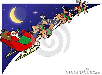 Santa Reindeer Sleigh/EPS