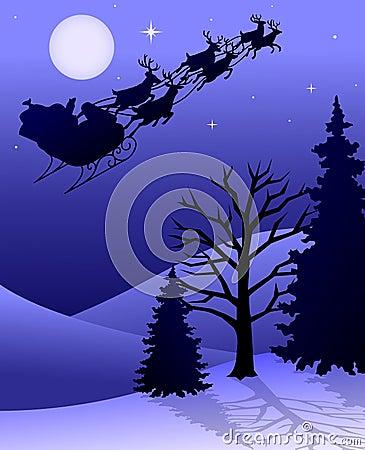 Free Santa Reindeer Sleigh/eps Royalty Free Stock Photo - 6131125