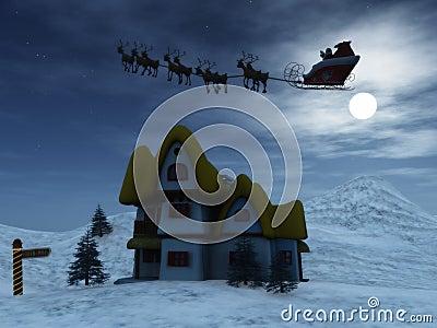 Santa and reindeers